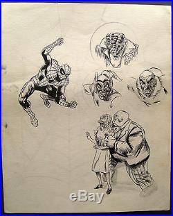 Spiderman (unpublish Power Record Cover) Original Artwork