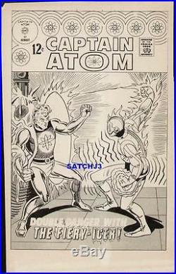 Steve Ditko 1967 Captain Atom #87 Original Charlton Production Art Cover Proof