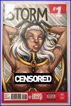Storm Sketch Cover Garrett Blair Original Art Nude Comic