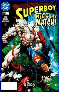 Superboy #36 DC 1997 (Original Art) Cover Ramon Bernado & Doug Hazlewood