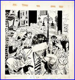 TALES OF HORROR #1 (1952) Original Cover art Myron Fass Horror Halloween comic