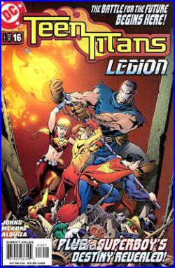 TEEN TITANS #16 Cover MIKE McKONE Original Artwork Wonder Girl SuperBoy KidFlash
