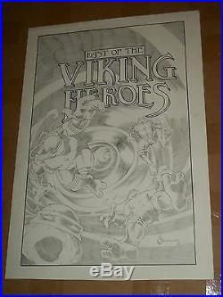 TEENAGE MUTANT NINJA TURTLES TMNT Last of the Viking Heroes Original Cover Art