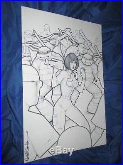 TEENAGE MUTANT NINJA TURTLES TMNT Original Pre-Cover Art by Nathan Szerdy