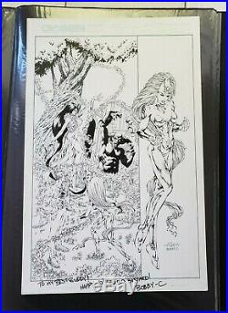 THE FIRST 28 COVER Andy SMITH Bobby C Original Art Crossgen Bart Sears Comics