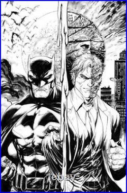 TYLER KIRKHAM ORIGINAL ART 11x17 ALL STAR BATMAN REBIRTH #1 COVER
