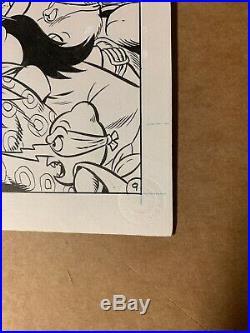 Teenage Mutant Ninja Turtles # Pg 9 Original Artwork Chris Allen Archie 1993