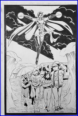 Terry Dodson MANTRA PIN-UP original art cover Ultraverse