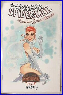 The Amazing Spider-Man Renew Your Vows Mary Jane Original Art Sketch cover by Vi