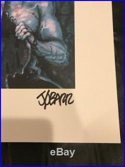 The Crow AP Original Graphic Novel Cover Signed