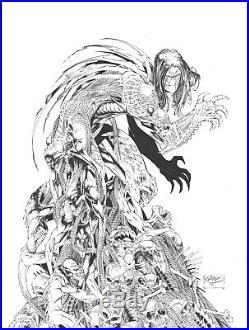 The Darkness #11 original comic art cover by Brandon Peterson Marc Silvestri