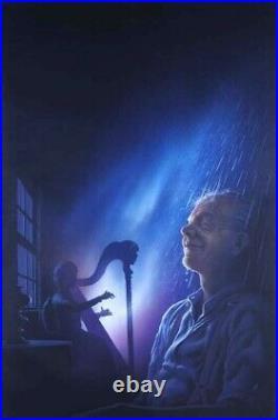 The Day it Rained Forever Ray Bradbury vtg original art book cover Penguin'87