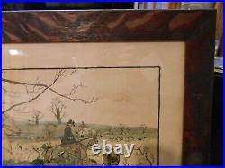 The Fallowfield Hunt Breaking Cover In Tiger Oak Frame Cecil Aldin 1900 Original