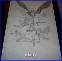 The TEEN TITANS #41 Cover TONY DANIEL Original Artwork Robin Wonder Girl Cyborg