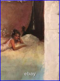 The Trailsman Book #139 Buffalo Guns Cover Page Original Painting