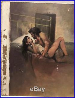 The Trailsman Book # 96 Buzzard's Gap Cut Top Cover Page Original Painting