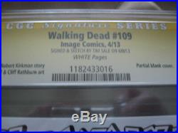 The Walking Dead 109 Tim Sale Original Art Sketch Cover Edition CGC 9.8 Michonne