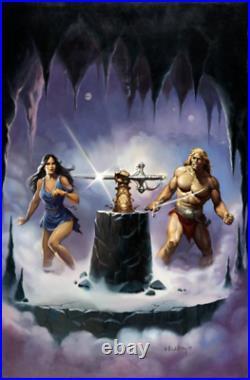 The Warrior Rearmed' Paperback Cover Original Art (DAW, 1984) Ken Kelly