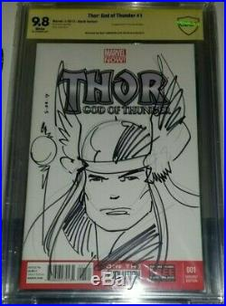 Thor #1 Blank Cover Original Art Sketch Walter Simonson Cbcs Ss 9.8 Nm (cgc)
