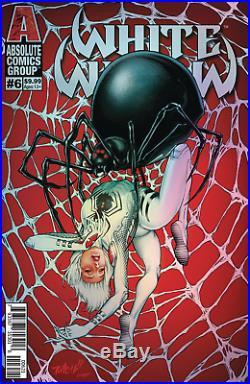 Tim Vigil Signed White Widow # 6 Cover Original Art-8 X 14 On Bristol Board
