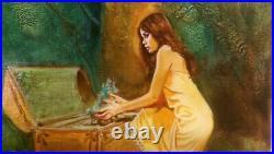 Titelbild Originalzeichnung von Esteban Maroto Spain Bastei Olivia Gemälde Cover