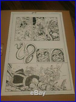 Tom Grummett Teen Titans Original Art (Cyborg, Wonder Girl, Beast Boy)