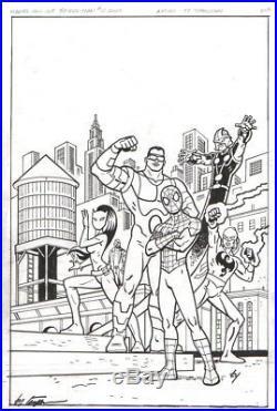 Ty Templeton Signed 2013 Ultimate Spider-man Original Cover Art-nova, Iron Fist