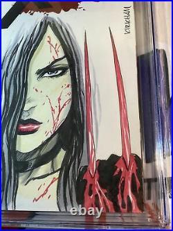 Tyler Kirkham Laura Kinney Original Art On Blank X-23 #1 Sketch Cover CGC 9.8