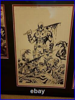 Tyler kirkham Deadpool kills the mavel universe again cover original art signed