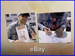 Tyson Hesse Original Art Sonic The Hedgehog #1 IDW Comic Book Sketch Cover