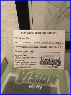 Ultimate Spiderman 16 Original Cover Art Signed Stan Lee Mark Bagley 1 Of A Kind