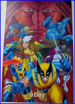Ultimate X-Men 1 Book COVER ART Mike Zeck `95 Original Painting Wolverine Gambit
