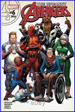 Uncanny Avengers 6 original COVER ART by CARLOS PACHECO Marvel Comics DEADPOOL