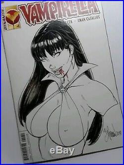 Vampirella Sketch Cover Comic Book Original Art 1/1 by Bryan Pedersen