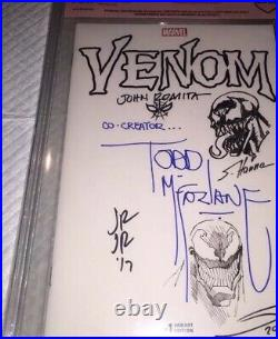 Venom #1 Blank 9.8 Cbcs Ss Original Art Todd Mcfarlane & John Romita & Sandoval+