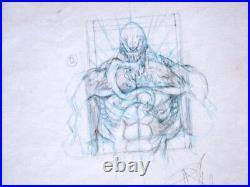Venom Dark Origin 4 Cover Prelim By Angel Medina Original Art Spider-man