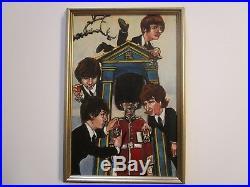 Vintage Original Beatles Painting Illustration Pop Art Band Modernism Cover Art