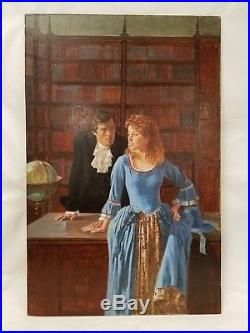 Vintage Original Pulp Book Cover Art Illustration Darrell Greene Man & Woman
