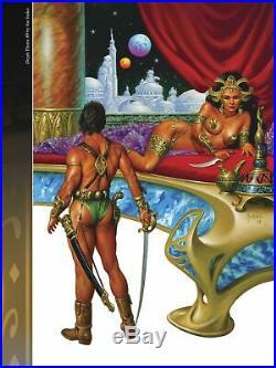 WARLORD OF MARS DEJAH THORIS #9 COVER Prelim Original Art JOE JUSKO 2012 Huge