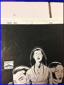 WEAPON ZERO (1995) #5 Cover Benitez Original Comic Art Top Cow / IMAGE