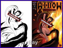 WIDOW Nude Cover Commissions- Original Art by Mike Wolfer