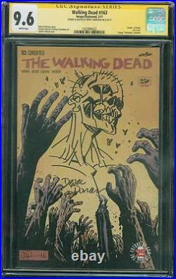 Walking Dead 163 CGC 9.6 SS Donovan Original art Zombie Variant sketch Cover