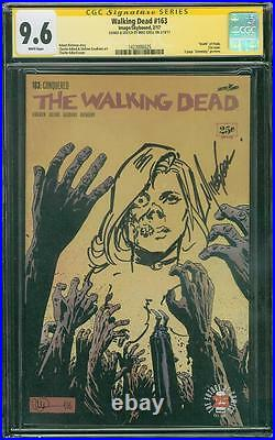 Walking Dead 163 CGC 9.6 SS Mike Grell Original art Zombie Variant sketch Cover
