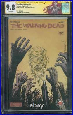 Walking Dead 163 CGC 9.8 SS Burnham Original art sketch Exclusive Variant Cover