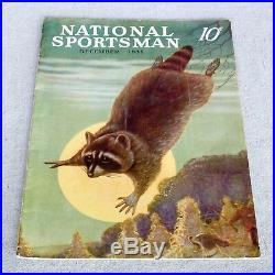 Walter Hemenway National Sportsman Magazine 1938 Original Cover Illustration Art