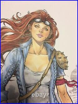 Wasteland Madam #1 F Original Comic Art Cover Siya Oum ECC Variant Lola XOXO