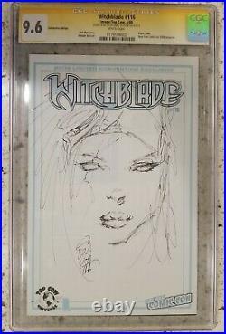 Witchblade #116 Sketch Cover CGC 9.6 ORIGINAL ART Sketch MARC SILVESTRI batman