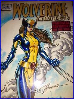 Wolverine #1 Blank Cover Original Art CBCS 9.8 SS O/A X23 Wolvrine Hana & Varese