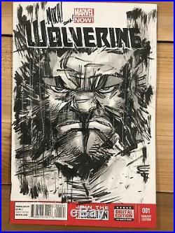Wolverine #1 Blank Cover Variant Original Art By Mitch Gerads Sketch