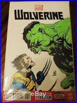 Wolverine #1 Wolverine VS Hulk 9.8 NM Variant Sketch Cover Original Art Marvel